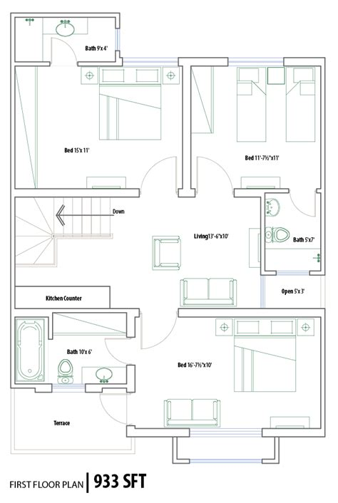 layout plan 5 marla house house plans and design architectural design 5 marla
