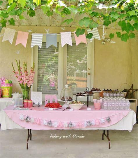 baking with blondie pink grey amp white baby shower
