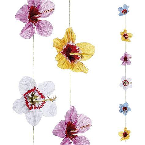 cadenas de flores de papel crepe deco cadena decorativa de papel flores de hibisco 200 cm