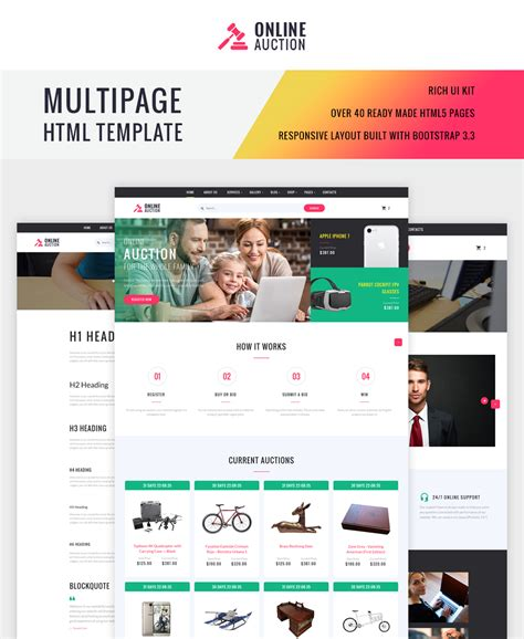 free auction html templates auction html template