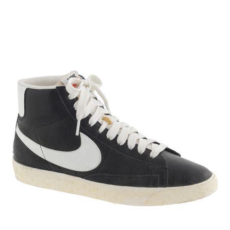 j crew s nike blazer mid vintage sneakers in black in black lyst