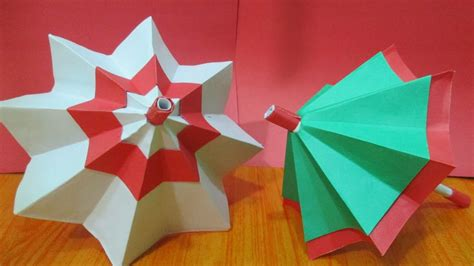 How To Make Origami Umbrella - how to make paper umbrella origami paper umbrella diy
