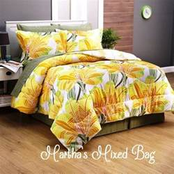 King Size Yellow Bedding Sets Modern Tropical Palm Tree Leaves Yellow Orange Cal King