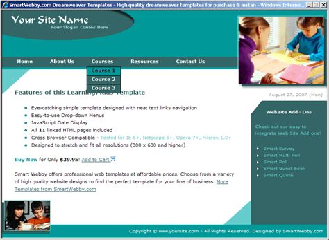 simple web templates for asp net simple education template