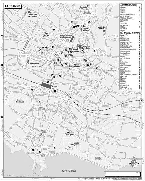 lausanne map lausana plan de la ciudad mapas imprimidos de lausana