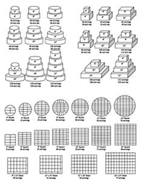 how to bake different cake sizes 1000 images about cake serving chart on cake serving chart wedding cake square and