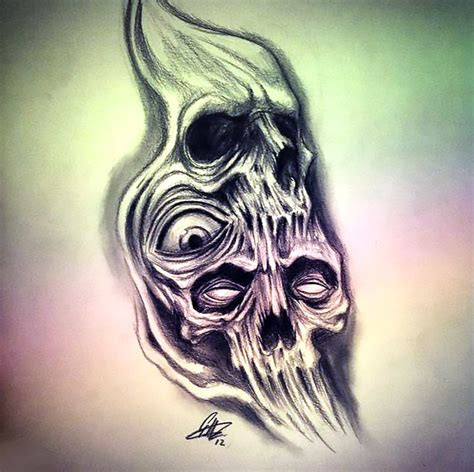 horror tattoo drawing