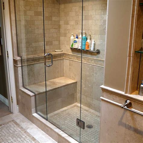 Bathroom Shower Seats 1000 Ideas About Shower Tile Designs On Pinterest Bathroom Tile Designs Shower Niche And