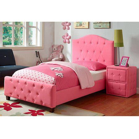 diva upholstered twin bed, pink upc: 111304168829