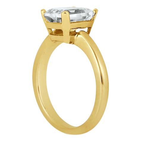 solitaire engagement ring setting for emerald cut