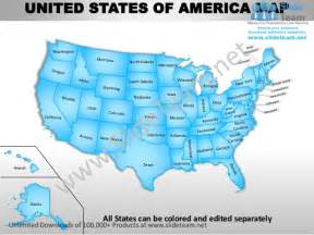 editable united states map usa country editable powerpoint maps with states and