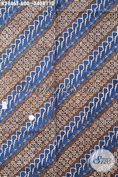 Dress Batik Tulis Halus Coklat Klasik batik parang halus kombinasi warna biru dan coklat produk kain batik klasik premium proses