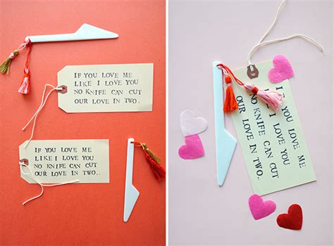 secret admirer valentines day ideas s knife tassel diy