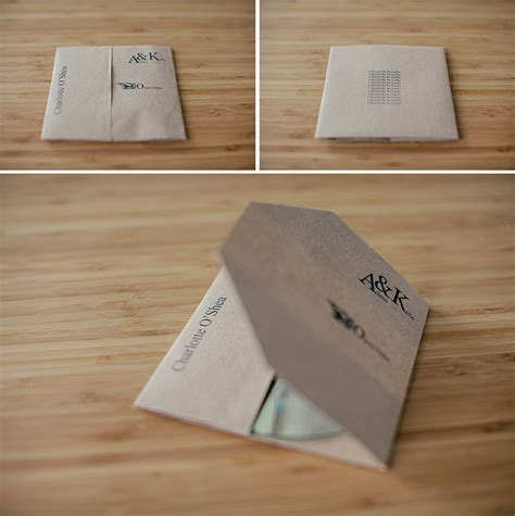 Make Cd Out Of Paper - diy cd favour place setting for your wedding