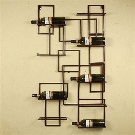 wall decor for home bar wall mount metal wine rack bottle holder wine storage