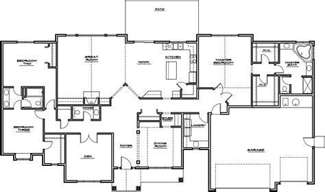house layout plan rambler house plans images