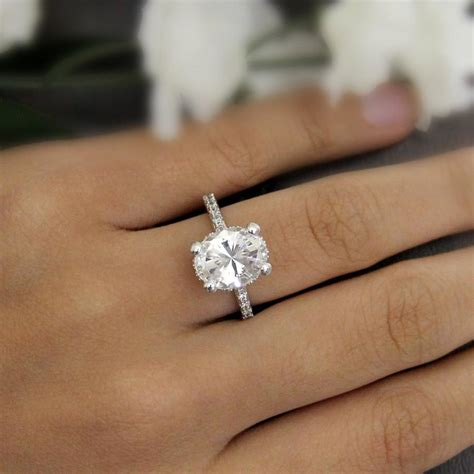 4 20 ct engagement ring oval cut simulant