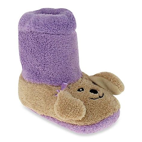 purple fuzzy slippers capelli new york fuzzy slippers in purple buybuy baby