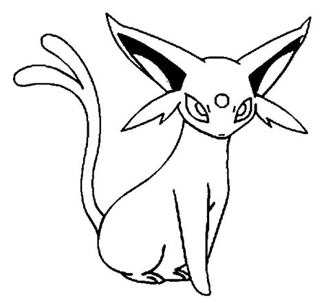 Pokemon Coloring Pages Espeon | coloring pages pokemon espeon drawings pokemon