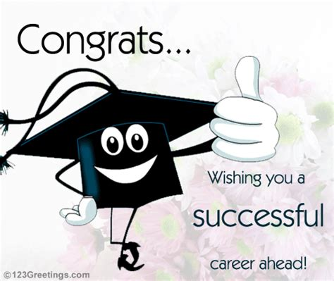 successful careerfree congratulations ecards, greeting