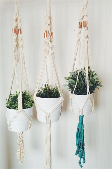 Macrame Planters by Macrame Plant Hanger Hanging Planter