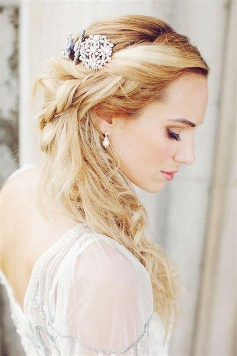 half up half down wedding hairstyles 40 stylish ideas