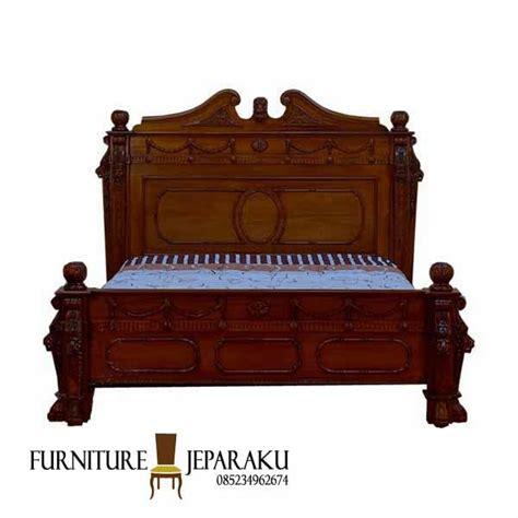 Tempat Tidur Kayu Jati Asli tempat tidur jati model antik furniture asli jepara mebel jepara minimalis