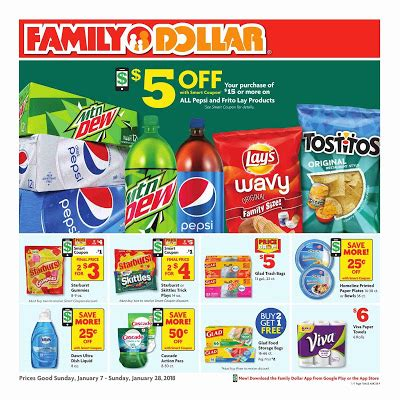 family dollar weekly ad january 7 – 28, 2018 | grocery