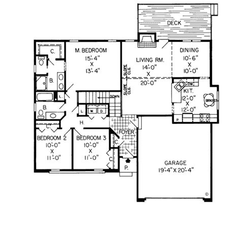 1500 Square Foot Ranch House Plans 1500 Square Foot House Plans 1500 Square 3 Bedrooms 2 Batrooms 2 Parking Space On 1