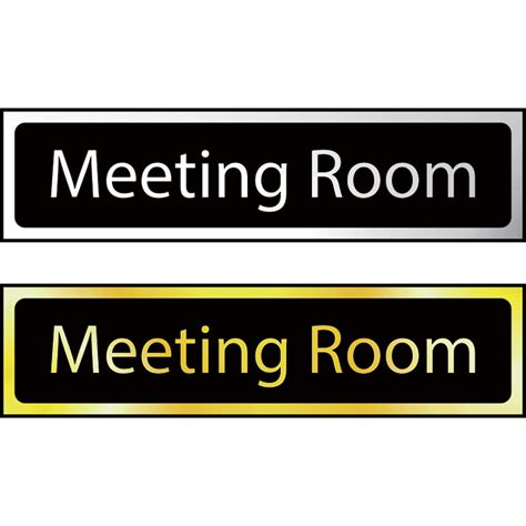 conference room signs meeting room mini sign ese direct