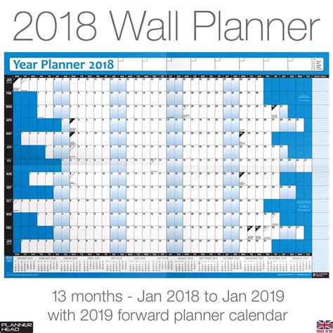 printable year planner 2015 a3 2018 yearly planner annual wall chart year planner a