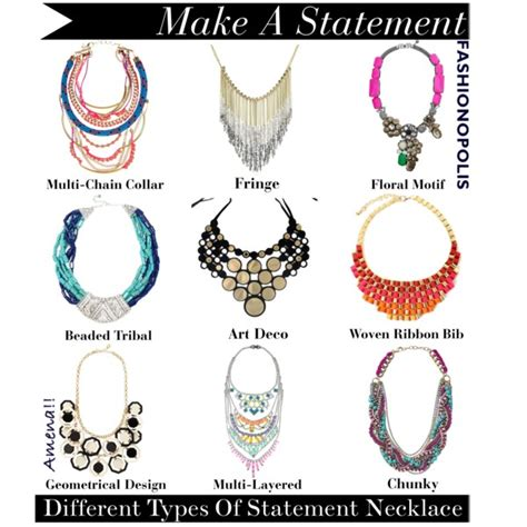 types of for jewelry different types of statement necklace closet