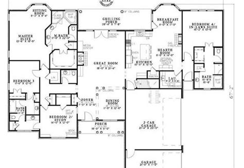 floor plans with inlaw apartment house plans with apartment in plans