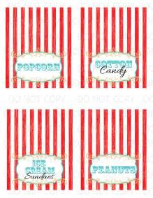4x6 table tent template printable diy vintage circus table tent food labels 4 designs