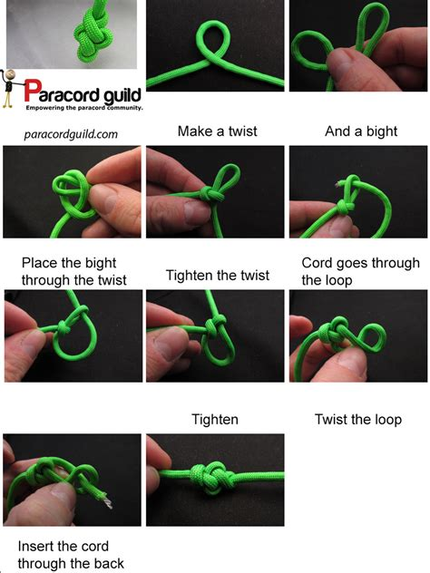 How to tie an eternity knot   Paracord guild