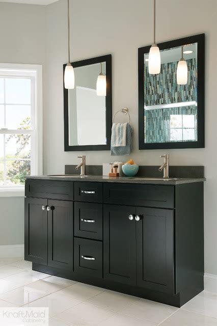 Kraftmaid Bathroom Cabinets Kraftmaid Maple Recessed Door In Onyx Contemporary Bathroom By Kraftmaid