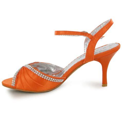 orange strappy sandals orange formal diamante strappy sandal womens
