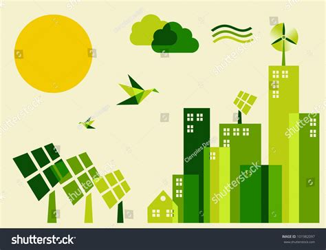 go green city background stock vector image of media go green city industry sustainable development with