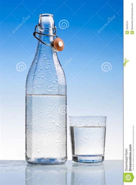 Water Bottle With Glass Royalty Free Stock Photography