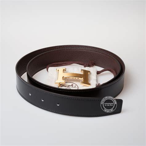 hermes brown and black leather belt gold lilac blue