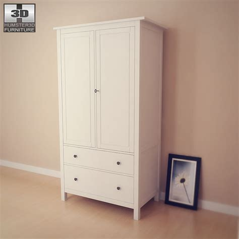 Hemnes Armoire by Hemnes Wardrobe 3d Model Humster3d