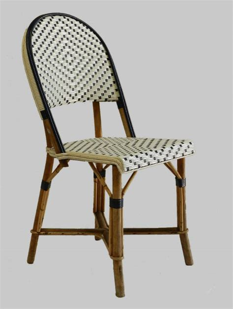 cafe chairs woven 4 bistro chairs woven maison gatti rattan