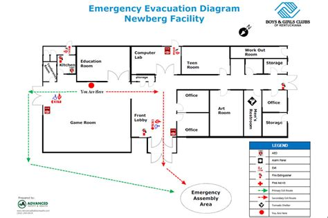Emergency Evacuation Floor Plans Emergency Evacuation Route Template
