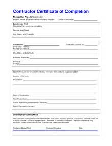 construction certificate of completion template best photos of construction completion form sle