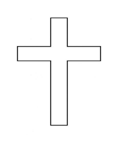 dibujos para colorear de la cruz una cruz para colorear imagui