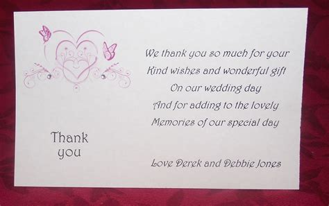 thank you cards for wedding gifts thank you gift cards wedding personalised printed