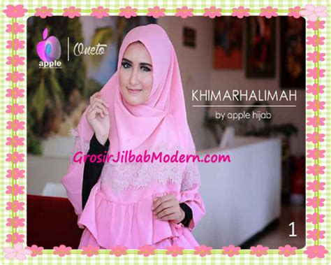 Khimar Crept Samaira Series syar i khimar halimah cantik original by apple brand series