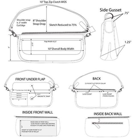 pattern generator sketch mini bag construction sketch by laura mcquay at coroflot