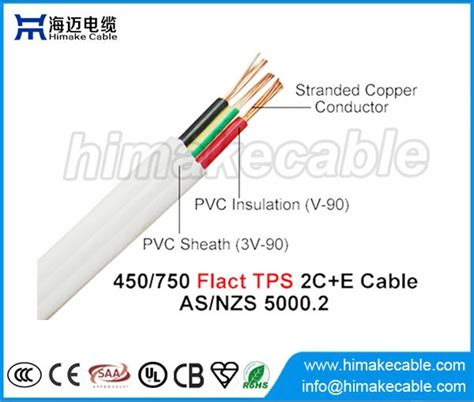 pvc sheathed wiring system pvc insulated and sheathed pvc flat tps cable 450 750v