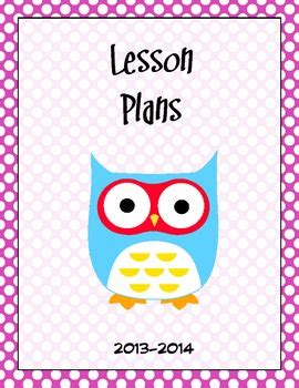 free printable lesson plan cover page lesson plan book cover page by kelly maxwell teachers